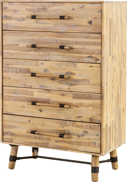 Hudson 5 Drawer Chest, Antique Scandinavian Accent Chests And Cabinets