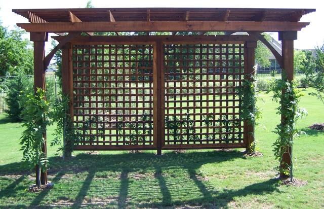 Freestanding Lattice Pergola Dallas By Texas Best Fence