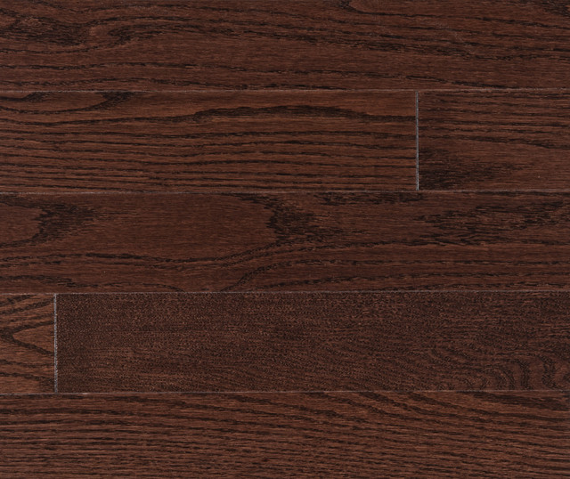 Prefinished Solid Red Oak Flooring 3 1 4 Wide Coffee Color Stain Traditional Hardwood By Higgins Wood Floors Inc