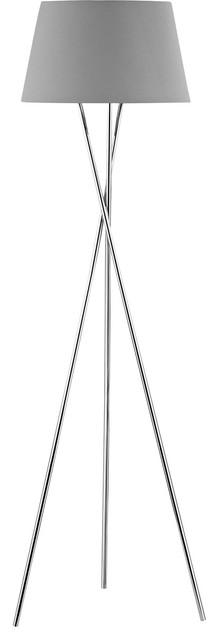 Excelsius 1-Light Floor Lamp, Polished Nickel.