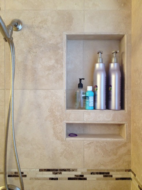 Bathroom Remodeling The Woodlands Tx travertine tub / shower conversion in the woodlands tx