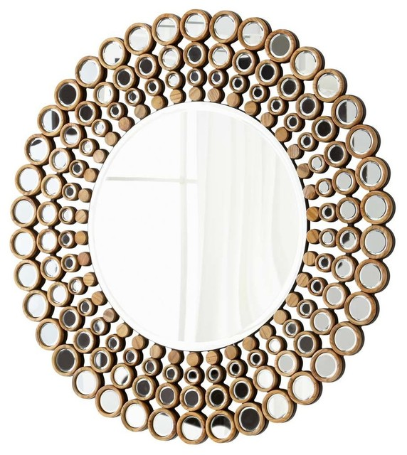 Contemporary Wall Mirror full circle mirror - contemporary - wall mirrors -cyan design