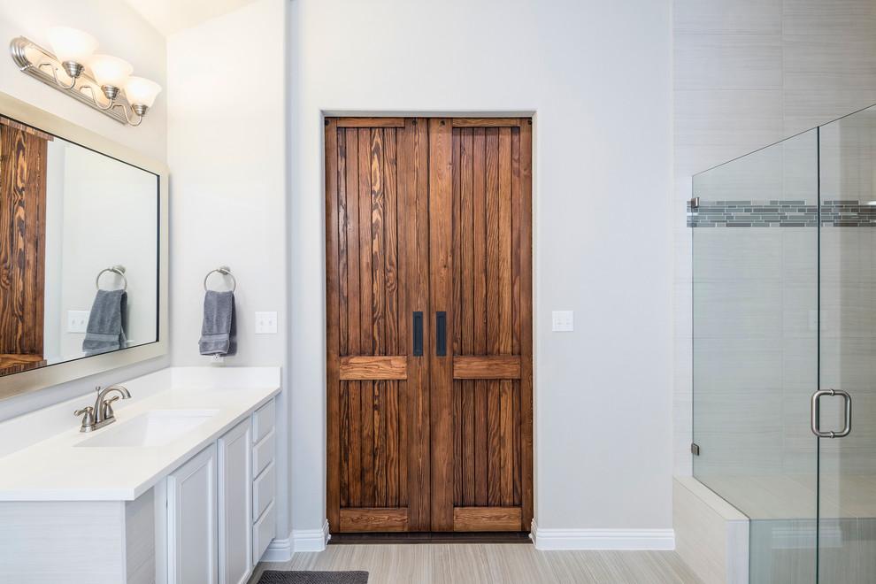 Douglas Fir Bi-Parting Master Bath Doors