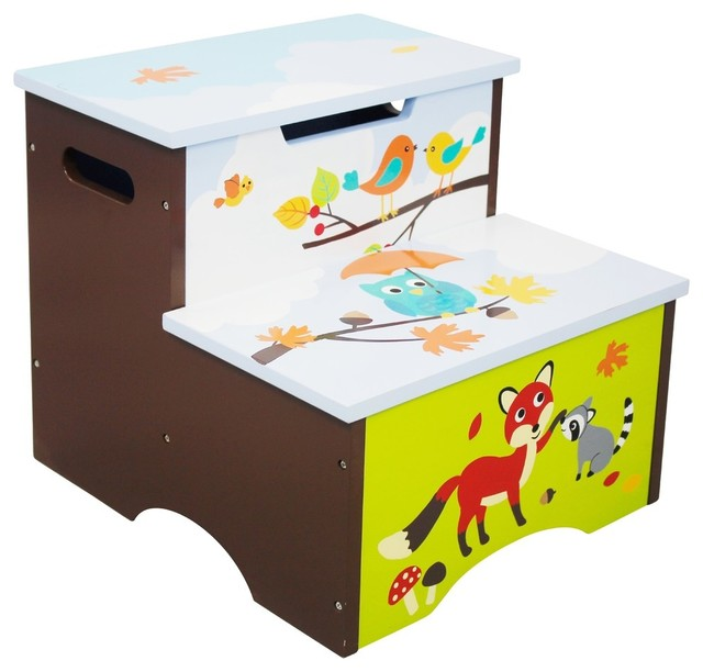 Enchanted Woodland Step Stool With Storage contemporary-kids-step-stools -and-  sc 1 st  Houzz & Enchanted Woodland Step Stool With Storage - Contemporary - Kids ... islam-shia.org