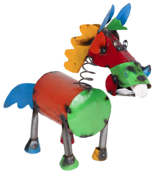 Mexican Imports Recycled Metal Springy Horse Garden