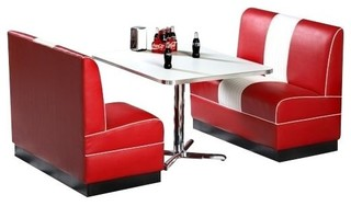 Classic 1950's Retro Diner Booth Set