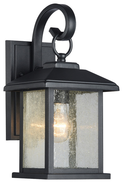 Mira Textured Black Outdoor Wall Sconce