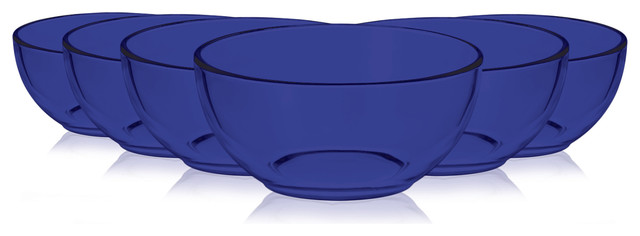 Libbey Cereal Bowl 6, Set of 6 By TableTop King, Blue