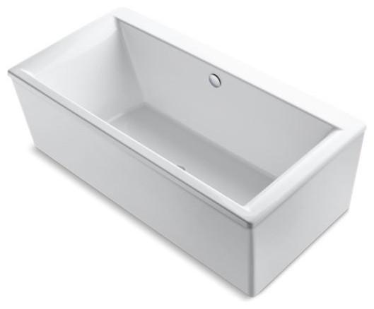 """Kohler Stargaze 72"""" X 36"""" Freestanding Bath w/ Center Drain, White"""
