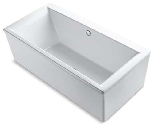 "Kohler Stargaze 72"" X 36"" Freestanding Bath w/ Center Drain, White"