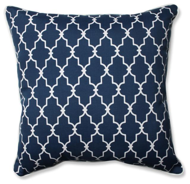 "Pillow Perfect Garden Gate Navy 25"" Square Outdoor Floor Pillow."