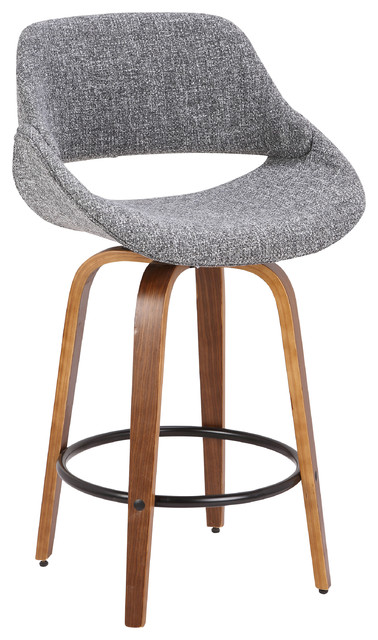 Southbank Counter Stool Walnut And Blue Noise