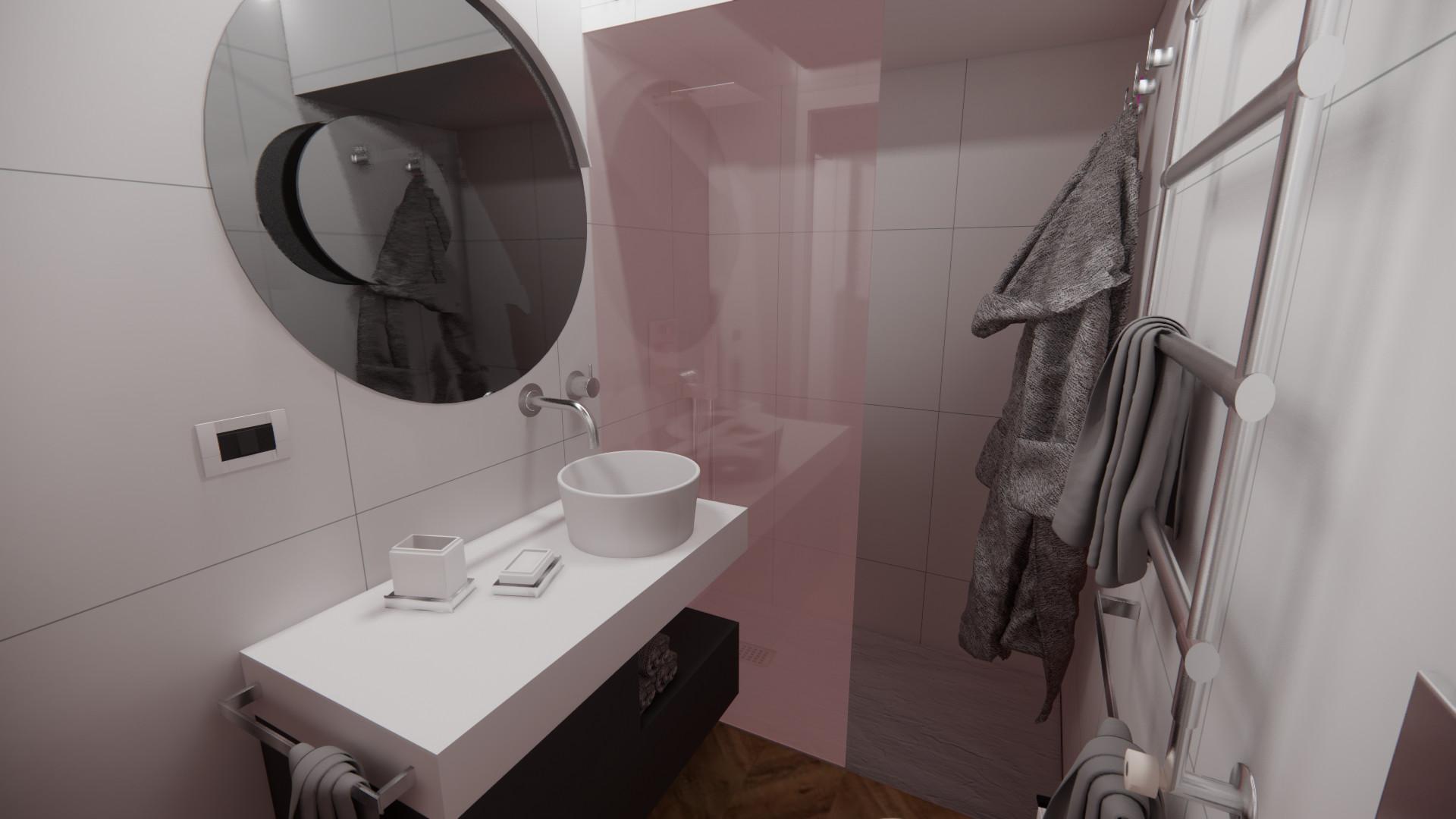 Piccolo Bagno Moderno  per Piccolo Loft moderno