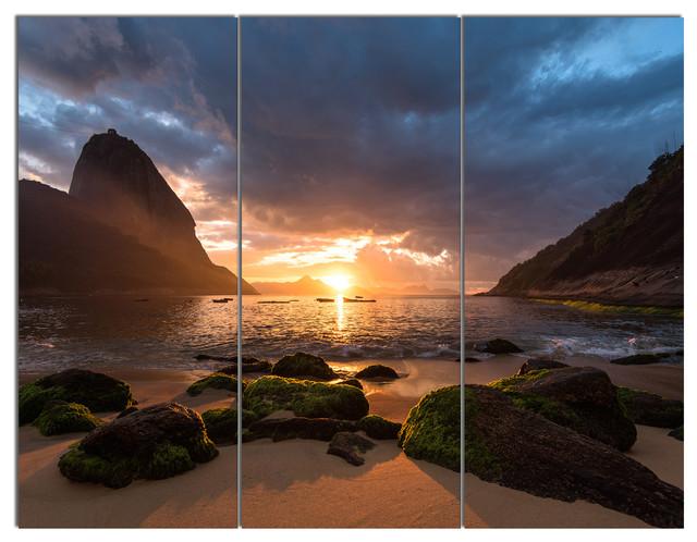 Sunrise Rocky Coast on Framed Canvas Pictures Landscape Wall Art Prints Deco