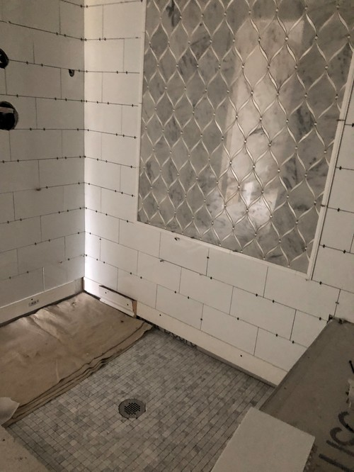 Should i seal my marble shower floor and walls myself before grout solutioingenieria Choice Image