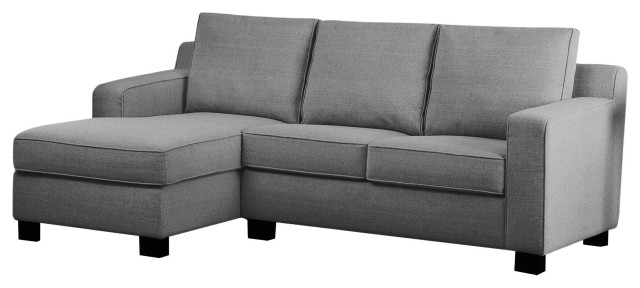 Bailey Fabric Sectional Transitional, Grey Fabric Sectional Sofa