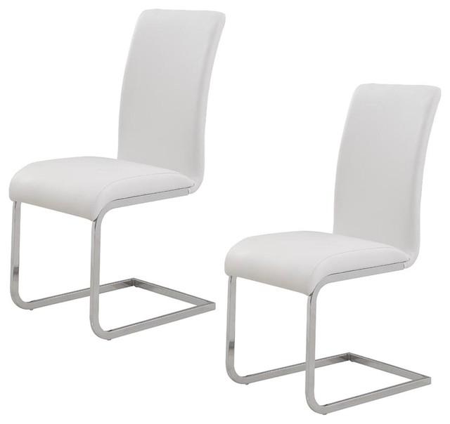 Bhandi Side Chairs, Set Of 2, White.