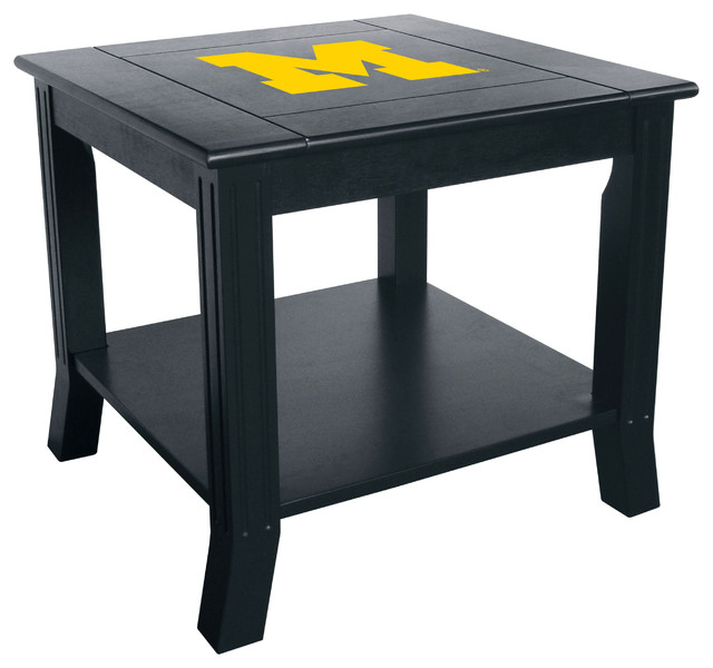 University Of Michigan Side Table Contemporary Side Tables And End Tables