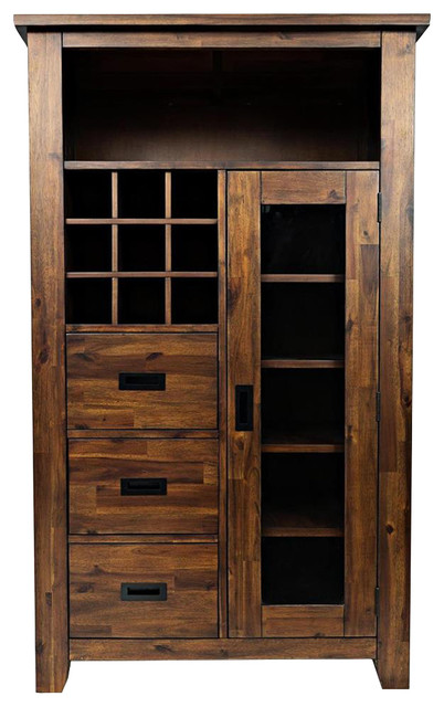 Jofran Coolidge Corner Wine Pantry - Transitional - Wine And Bar Cabinets - by Beyond Stores