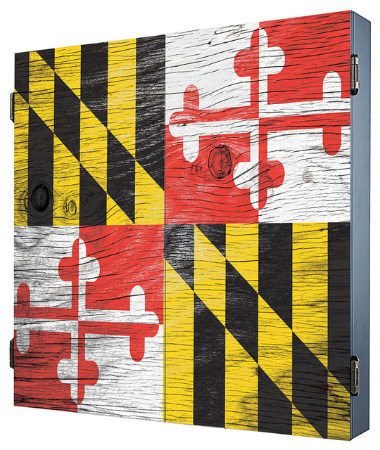 Maryland Dartboard Cabinet - Rustic - Darts And Dartboards - by Darts & Decor