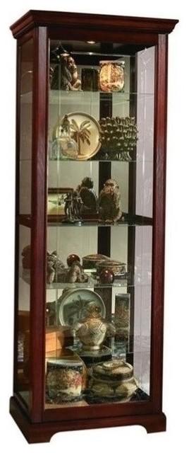 Pulaski Victorian Cherry Curio Cabinet - China Cabinets And Hutches - by Homesquare