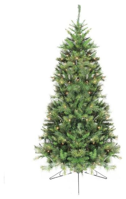 6 5 Pre Lit Canyon Pine Artificial Half Wall Christmas Tree Clear Lights