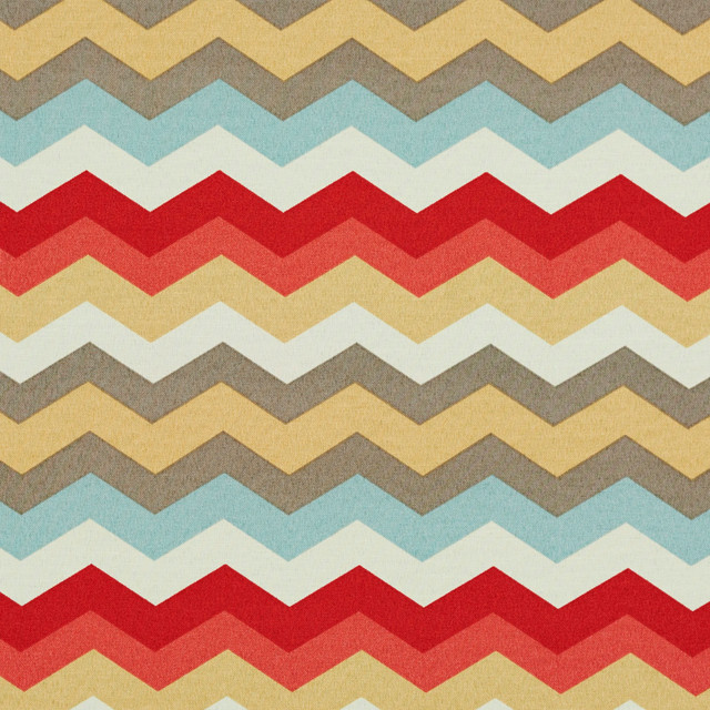 Red Blue Pink Gold And Grey Chevron Outdoor Indoor Upholstery Fabric By The Yard Contemporary Palazzo Fabrics