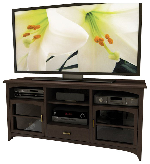 "Sonax Furniture: Sonax West Lake 60"" TV / Component Stand In Dark Espresso"