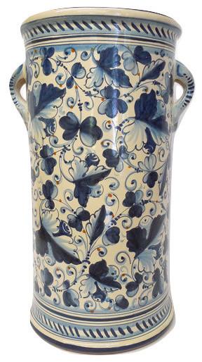 Tuscan Ceramiche Darte Tuscia Foglia Di Montelupo Umbrella Stand