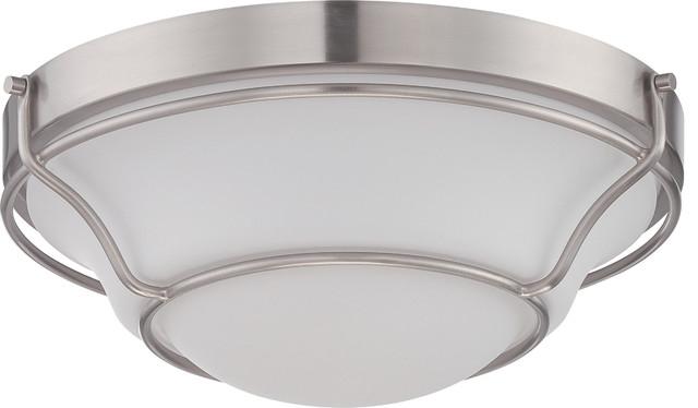 Ceiling Medallion Lighting Baker Collection Brushed Nickel transitional-flush-mount-ceiling-  sc 1 st  Houzz & Ceiling Medallion Lighting Baker Collection - Transitional - Flush ...