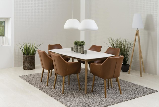 Nagane Extending Table And Nori Chairs, 8 Chairs
