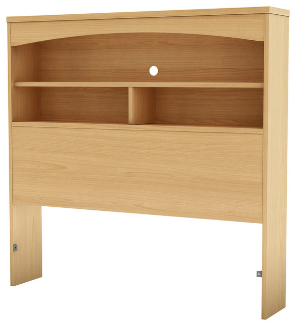 """South Shore Step One Twin Bookcase Headboard 39"""", Natural Maple."""