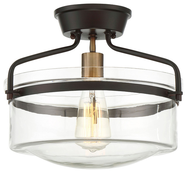 Bernice Semi-Flush Mount Light, Oil Rubbed Bronze.