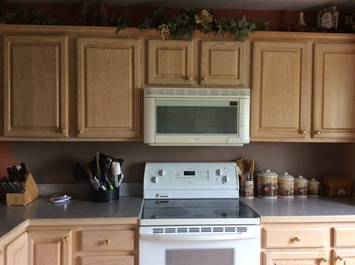 Embracing pickled oak for White pickled kitchen cabinets