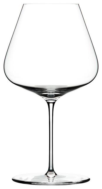 Hand Blown Burgundy Glasses, Set of 6
