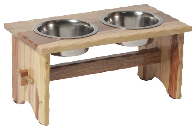 hounds best rustic elevated dog feeder pet bowls and feeding
