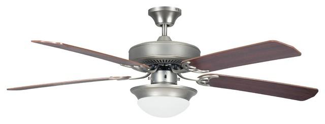 "52"" Heritage Fusion Es Ceiling Fan With 2x13w Gu-24 Cfl Light Kit, Satin Nickel."