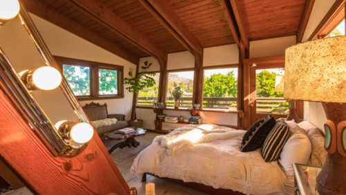 Room of the Day: Bedroom Takes a Creative Approach to A-Frame Design
