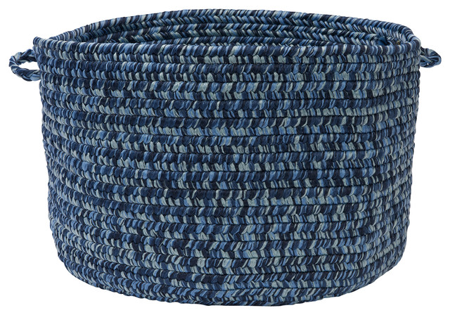 "Catalina, Blue Wave Utility Basket, 14""X10"""