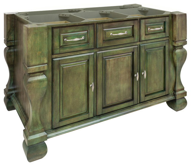 Hardware Resources Kitchen Island Base Only Aqua Green