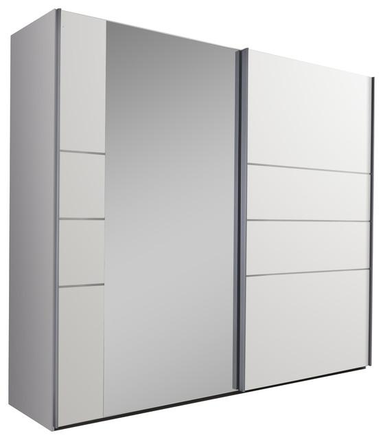 Marbella Mirror Panel Wardrobe, White