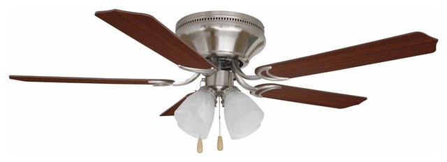 Ellington Brilliante Brushed Polished Nickel Ceiling Fan With Blades.
