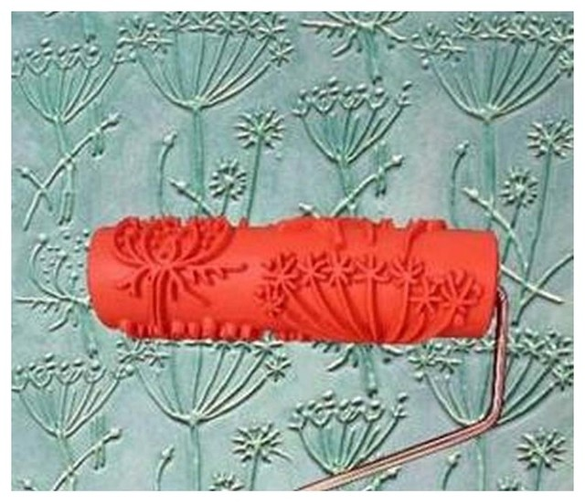 Embossed Paint Roller Wall Painting Runner Wall Decor Diy Tool, Pattern 14.