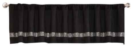 Night Sky Black And Gray Valance.