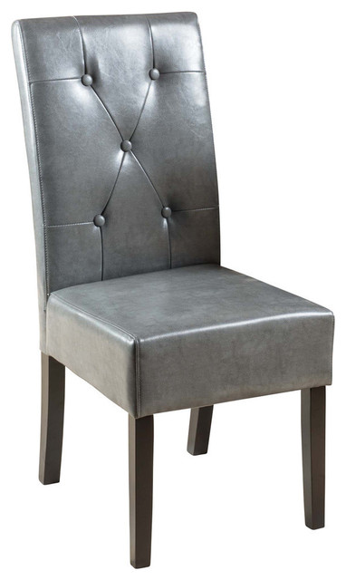 Gdf Studio Alexander Leather Dining Chairs Set Of 2