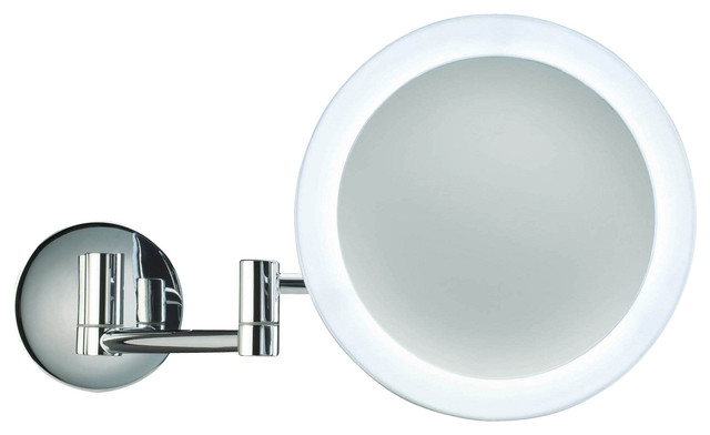 Smile 304 Magnifying Mirror Illuminated In Chrome 5x Contemporary Makeup Mirrors