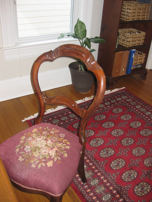 Need Help In Small Office, Fabric For Antique Chair - Small Antique Chair Antique Furniture