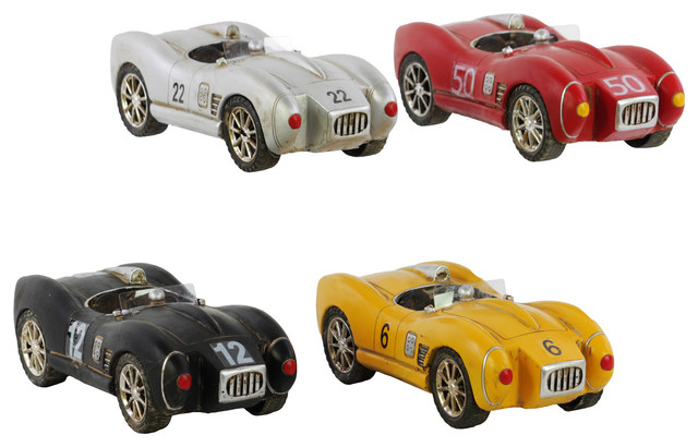 Assorted 66 Shelby Cobra Resin Cars Set Of 4