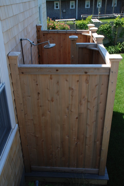 Cedar Outdoor Showers
