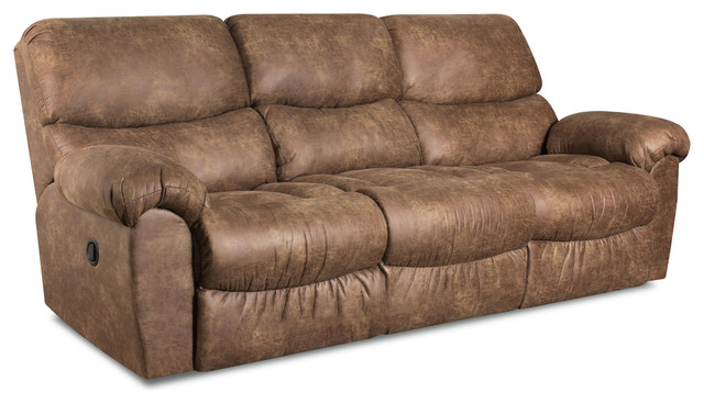 Laredo Faux Leather Reclining Sofa Contemporary Sofas By